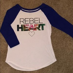American Eagle 3/4 Sleeve Graphic T-Shirt